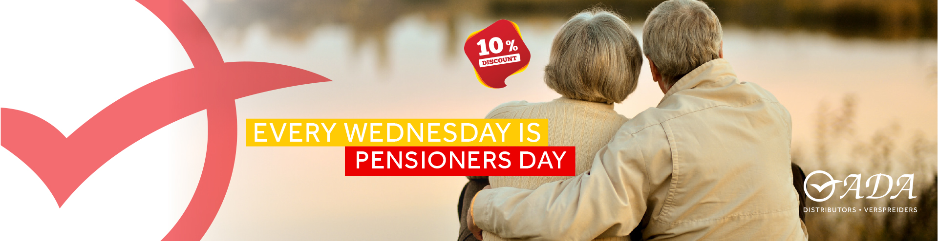 Every Wednesday is Pensioners Day (10% Discount)