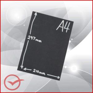 A4 Unframed Chalk Board