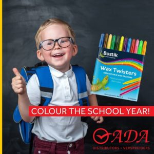 Colour the school year - Wax Twister Crayons